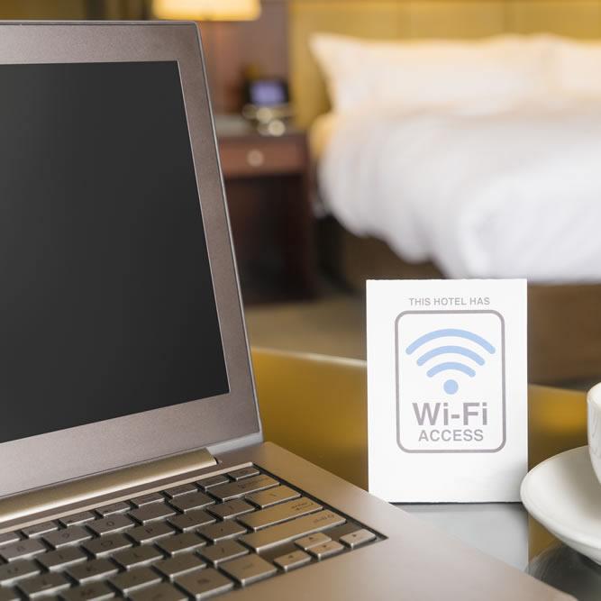 Connessione hotspot Wifi albergo
